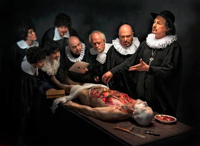 Anatomy Lesson (homage to Rembrandt) by Derek Galon will be featured in Greece
