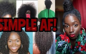 VIDEO: FINALLY TEA ON MY SIMPLE HAIR REGIMEN/ ROUTINE FOR…