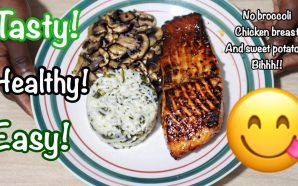 VIDEO: HEALTHY MEALS THAT AREN'T BORING!! Honey Glazed Salmon!!