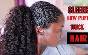 VIDEO: SLEEK LOW PUFF ON THICK NATURAL HAIR!