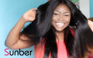 VIDEO: Straightening my Peruvian Wavy from Sunber Hair