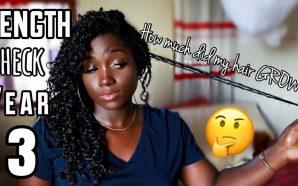 VIDEO: Did My NATURAL HAIR Grow?! YEAR 3 LENGTH CHECK+…