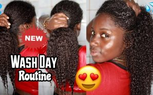 VIDEO: NEW Natural Hair Wash Day Routine Ft. Shedavi +…