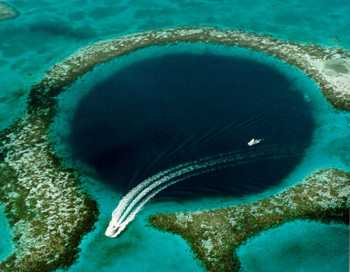 The Great Blue Hole, part of a UNESCO World Heritage Site that the government of Belize recently protected from offshore oil drilling and exploration.