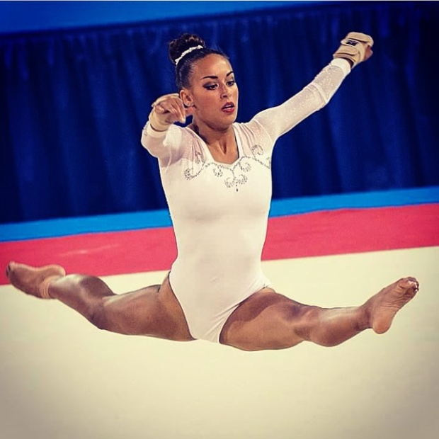Dick was repeating her signature move more than 20 times a day in training for the worlds. (Marissa Dick/Instragram )