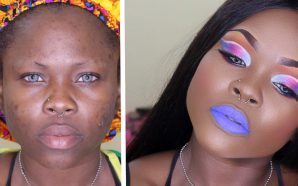 VIDEO: White Colorful Cut Crease and BLUE lips