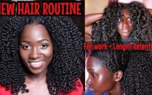 VIDEO: NEW Natural Hair Routine+ WEEK in my hair for…