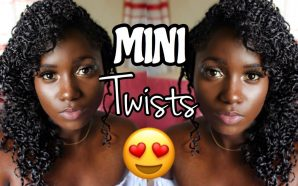 VIDEO: CURLY CUTE MINI TWISTS ON NATURAL HAIR| Summer Natural…